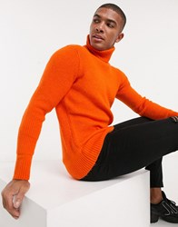 Tom Tailor Sweater With Turtle Neck In Orange
