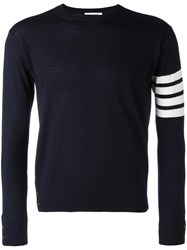Thom Browne Striped Sleeve Jumper Blue