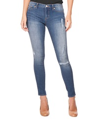 Dittos Calypso Medium Wash Jeans With Destruction Blue