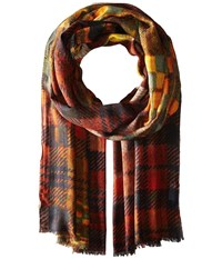 Bindya Into Checks Multi Scarves