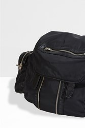 Alexander Wang Marti Nylon And Leather Backpack Black