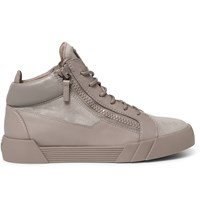 Giuseppe Zanotti Leather And Suede High Top Sneakers Brown