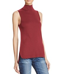 Splendid Sleeveless Turtleneck Top Cranberry