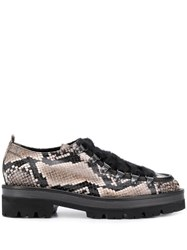 Kennel Schmenger And Snakeskin Effect Brogues Black
