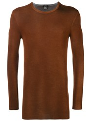 Avant Toi Draped Sweatshirt Brown