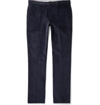 Paul Smith Slim Fit Stretch Cotton Corduroy Trousers Navy