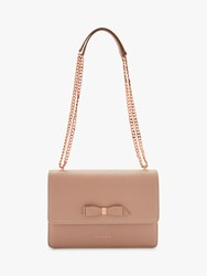 Ted Baker Joanaa Bow Leather Cross Body Bag Taupe