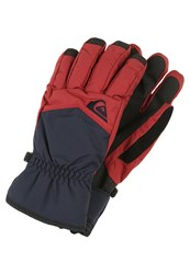 Quiksilver Cross Gloves Pomegranate Dark Red