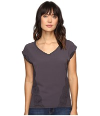 Calvin Klein Jeans Trend Table V Neck T Shirt Nine Iron Women's T Shirt Brown