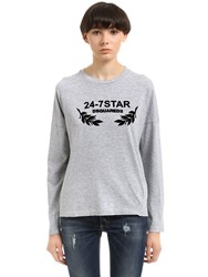 Dsquared Flock Printed Cotton Jersey T Shirt