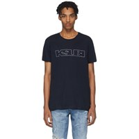 Ksubi Navy Sign Of The Times Unleaded T Shirt