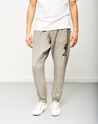 Religion Oil Wash Praying Skeleton Joggers Grey
