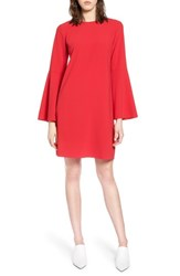 Halogen Bow Back Flare Sleeve Dress Red Lipstick