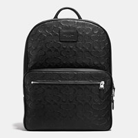 Coach Hudson Backpack In Signature Crossgrain Leather Silver Black