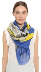 Yigal Azrouel Lounging With Jaggie Scarf Capri Multi