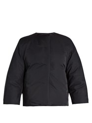 Jil Sander Boxe Reversible Duchess Satin Jacket Navy
