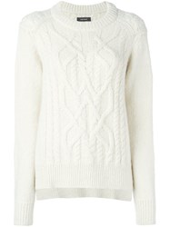 Isabel Marant Cable Knit Jumper Nude And Neutrals