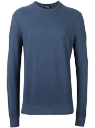 Hackett 'Rice Stitch' Sweater Blue