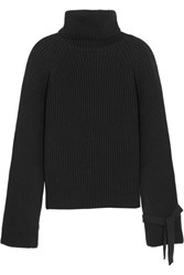 Joseph Wool Turtleneck Sweater Midnight Blue