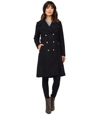 Jessica Simpson Double Breaster Military Duster Navy Women's Coat