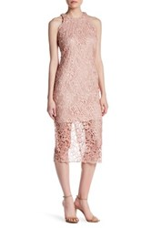 Alexia Admor Textured Sleeveless Dress Pink