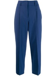 Dorothee Schumacher Concealed Front Trousers Blue