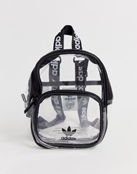 Adidas Originals Clear Backpack With Black Piping