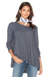 Wilt Shifted Crew Trapeze Long Sleeve Top Slate