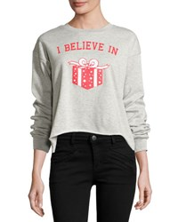Signorelli Graphic Front High Low Sweatshirt Gray