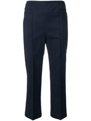 Sportmax Tailored Cropped Trousers Blue