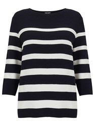 Gerry Weber 3 4 Sleeve Stripe Jumper Navy White