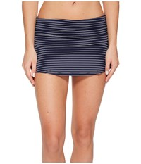 Carve Designs Playa Skirt Anchor Aruba Stripe Women's Swimwear Gray