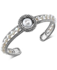Effy Final Call By Cultured Freshwater Pearl 4Mm And 10Mm Cuff Bracelet In Sterling Silver White