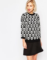 Love Moschino Skull Print Jumper Black
