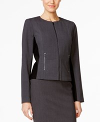 Calvin Klein Fit Solutions Zip Front Side Panel Jacket Only At Macy's Dark Gray