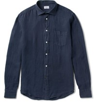 Hartford Paul Linen Shirt Navy