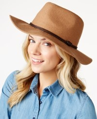 Inc International Concepts Melton Panama Hat Only At Macy's Camel