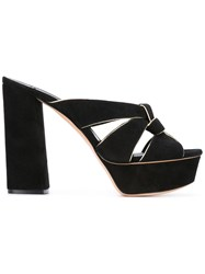 Casadei Platform Mules Women Chamois Leather Leather Nappa Leather Kid Leather 39.5 Black