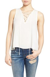 Women's Painted Threads Lace Up Tank