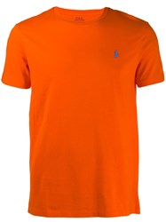 Polo Ralph Lauren Embroidered Logo T Shirt Orange
