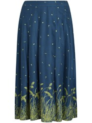 Seasalt Hantergantick Midi Skirt Grass Border Galley