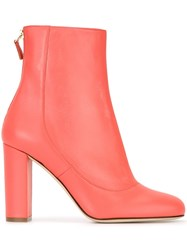 M Missoni Chunky Heel Ankle Boots Pink And Purple