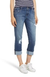Wit And Wisdom Distressed Jeans Blue