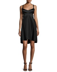 Halston Sleeveless Sweetheart Neck Dress Black