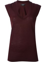 Isabel Marant 'Shana' Tank Top Red