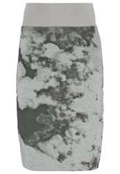 Cheap Monday Cater Pencil Skirt Clouds Grey Melange