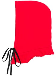 Unravel Project Drawstring Hood Red