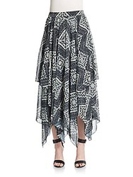 Alice Olivia Ryley Gathered Skirt Black Diamond