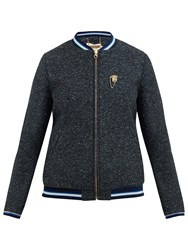 Ted Baker Colour By Numbers Prema Semi Fitted Bomber Jacket Dark Blue