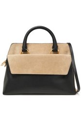 Diane Von Furstenberg Woman Two Tone Suede And Leather Tote Black